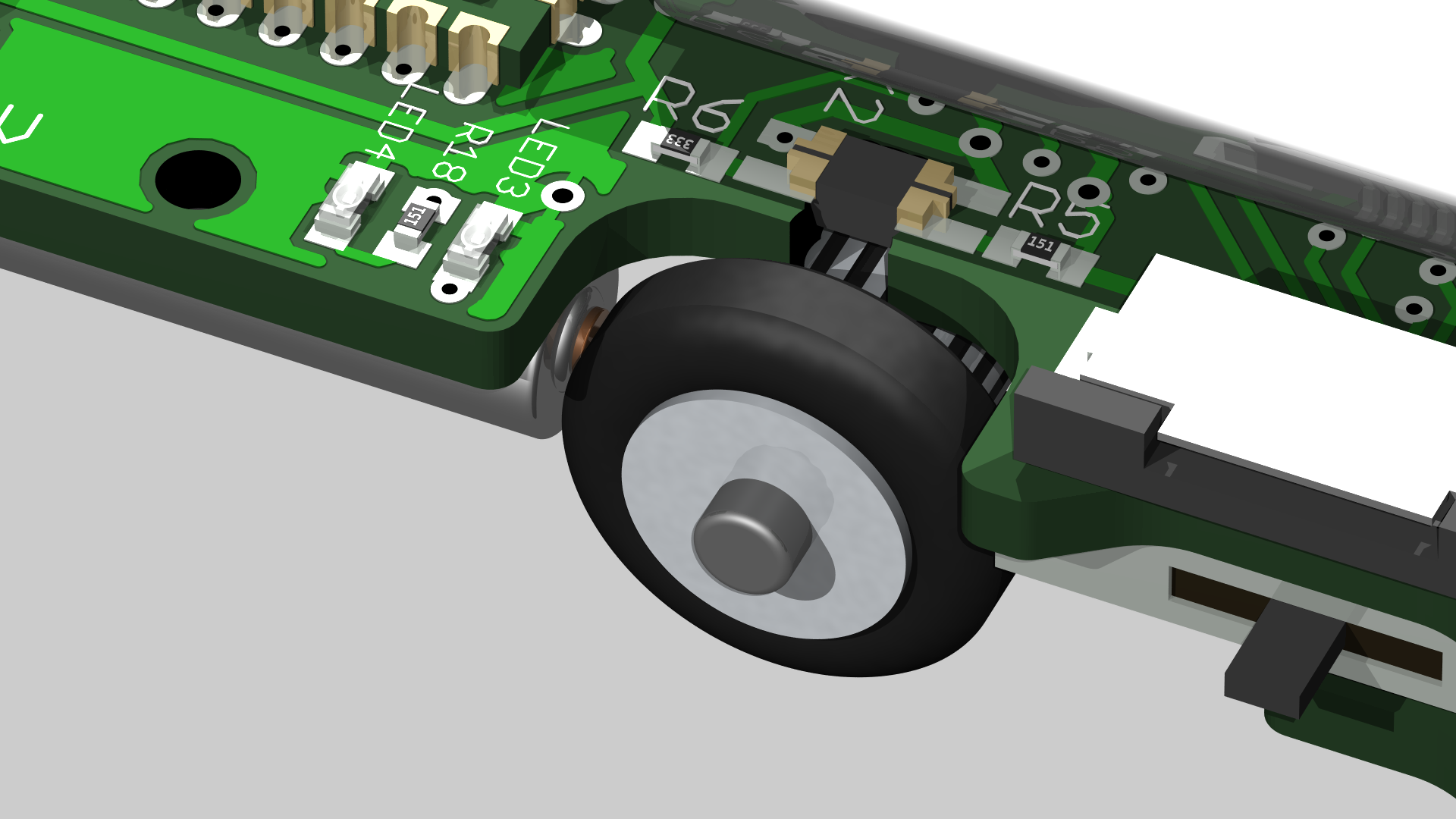 Pocketbot 2 The Matchbox Sized Robot Line Follower Scanner Schematic Optical Wheel Encoders Top View